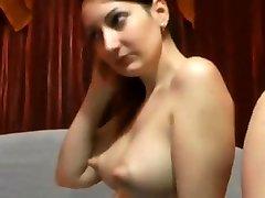 Webcam perky nipples (NO SOUND)