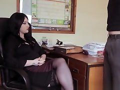 Office Cfnm Stunner Dicksucking Teasingly