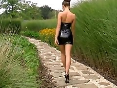 Nice girl hot black latex