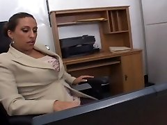 Office fuck with steaming tits