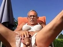 old guy wanking