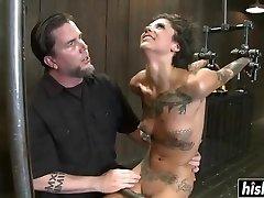 Cock greedy babe gets dildo fucked