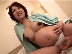 preggie Japan woman still gets fuck part 2