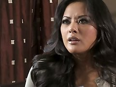 Sexited Kaylani Lei gives a stout deep throat to the powerful shaft of the detective