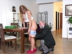 Father and Son fucking blondie nubile in turn