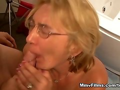 Crazy pornstar in Incredible Cumshots, Blonde lovemaking scene
