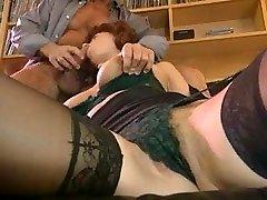 Great dual cum on stockings