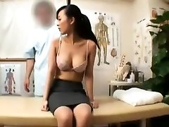 Cute Asian massage honey gives a sensual rubdown