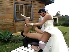 Hot shemale bride fucks new spouse