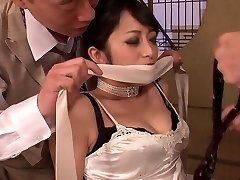 Elegant cutie gets had threesome fuck after dinner