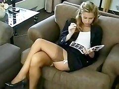hot girl in stockings