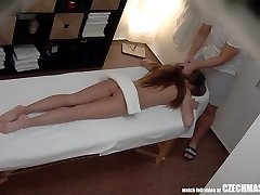 Beautiful Long Haired Teen Having Romp with Masseuse