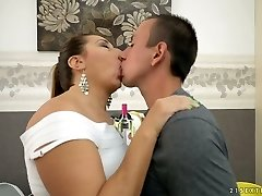Lecherous mature damsel Jodie gets porked by a naughty guy