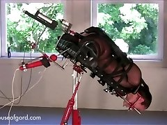 #194 Lingerie fuckingmachine device bondage HOG