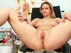 Zaneta has her pussy gyno speculum examined by elderly doctor
