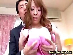 Big-chested asian babe tits groped