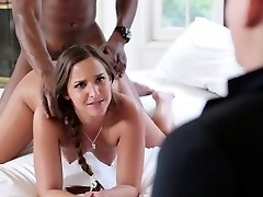 Teen schoolgirl sucking and getting penetrate by a big black cock