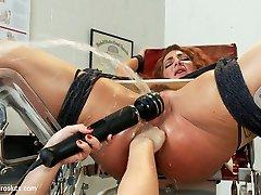 Lea Lexis  Savannah Fox in Ass-fuck Latex Squirting Nympho Nurses - Electrosluts