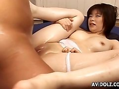 Asian jugs babe sucking and fucking huge dick