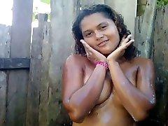 3rd World Puta - 01 - Bathing outside