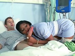 Black Nurse Fucked By Big White Cock