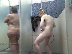 Naked women bathe in the shower 0037