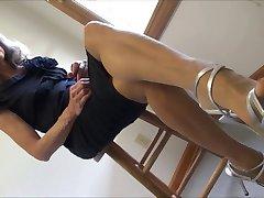 nailon picioare și tocuri strappy legăna și tălpi