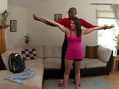 Kayla West has her husband watch her take black cock