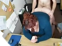 Porking my Horny Fat BBW Secretary on Hidden Webcam