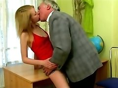 STP Bony College Girl Gets Put Right By Headmaster !