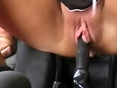 Squirting in a car