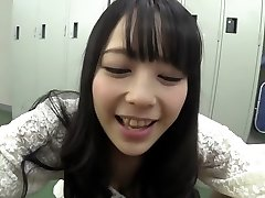 Horny Japanese girl in Impressive Handjob, Teenagers JAV scene