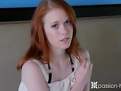 Enthusiasm-HD Tiny redhead teen Dolly Little welcome home bang