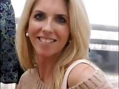 Horny Blond MILF BEFORE and AFTER