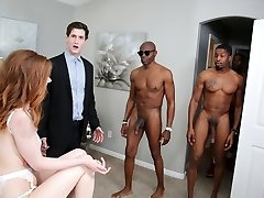 Pepper Hart Bi-racial Anal Gangbang - Hotwife Sessions