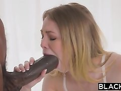 BLACKED Small blonde with the biggest big black cock in the world