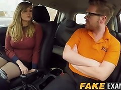 Bootylicious UK skank Madison Stuart penetrated at driving school car