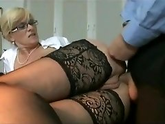 Marina Montana Secretary Assfucked Hangers mammories stockings