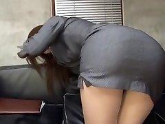 Astounding Japanese whore Riko Miyase in Best Stockings/Pansuto, Office JAV video