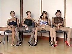 Hottest nylon girls vs 1 fortunate guy