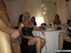 Jaw-dropping girls enjoy dick party