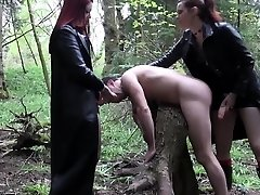 Emo femdoms pegging worthless fool together