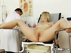 Doctor Peaks Deep Inwards Graces Pussy