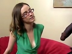 Super-cute and skinny brunette with a Bbc