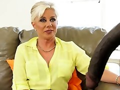 Glorious cougar Payton Hall bangs her black patient whose cock is too big