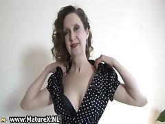 Erotic older lady in sexy lingerie luvs part4