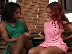 Tranny fucks girl in pantyhose