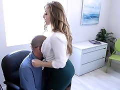 TeamSkeet - Busty and Hairy Office Babe Penetrated By Colleague