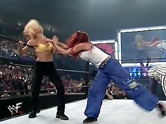 trish and lita vs stacey and torrie wrestling divas bra and undies match