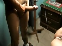 Wifey fucking a friend in spare bedroom at boss's X-Mas soiree